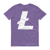 Litecoin / LTC W T-Shirt Premium-Heather Purple- Crypto & Proud