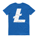 Litecoin / LTC W T-Shirt Premium-Royal Blue- Crypto & Proud