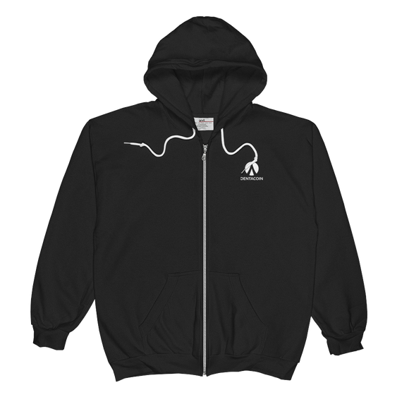 Dentacoin / DCN SWL Zip Hoodie   - Crypto & Proud