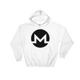 Monero / XMR B Heavy Blend Hoodie-White- Crypto & Proud