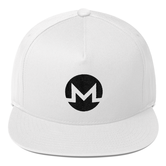 Monero / XMR B Snapback Hat-White- Crypto & Proud