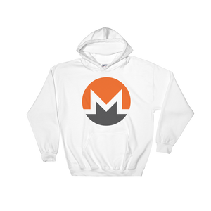 Monero / XMR C Heavy Blend Hoodie-White- Crypto & Proud