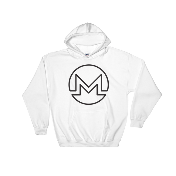 Monero / XMR OB Heavy Blend Hoodie-White- Crypto & Proud
