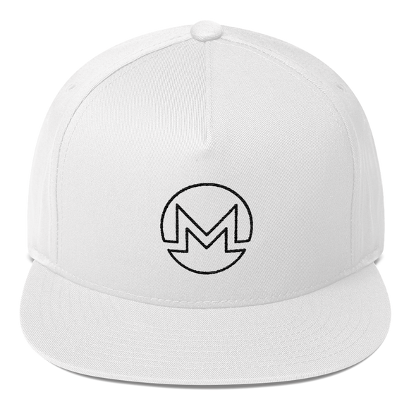 Monero / XMR OB Snapback Hat-White- Crypto & Proud