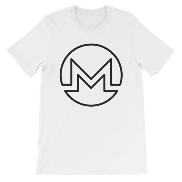 Monero / XMR OB T-Shirt Premium-White- Crypto & Proud
