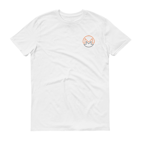 Monero / XMR OSC T-Shirt Premium-White- Crypto & Proud