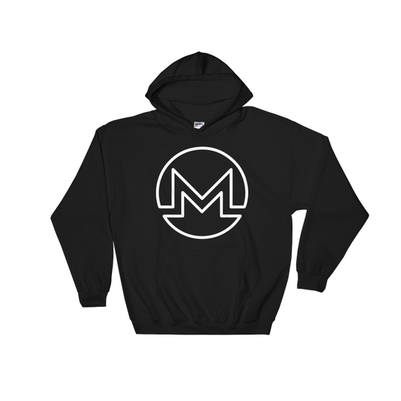 Monero / XMR OW Heavy Blend Hoodie-Black- Crypto & Proud
