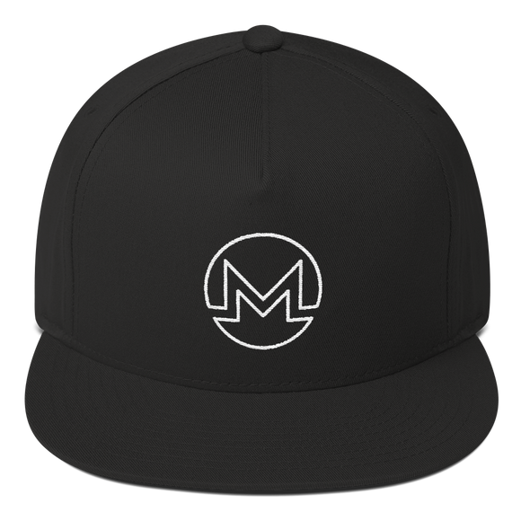 Monero / XMR OW Snapback Hat-Black- Crypto & Proud