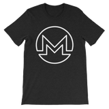 Monero / XMR OW T-Shirt Premium-Black Heather- Crypto & Proud