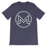 Monero / XMR OW T-Shirt Premium-Heather Midnight Navy- Crypto & Proud