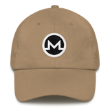 Monero / XMR RB Classic Hat-Khaki- Crypto & Proud