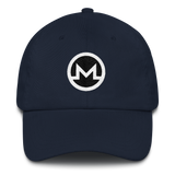 Monero / XMR RB Classic Hat-Navy- Crypto & Proud