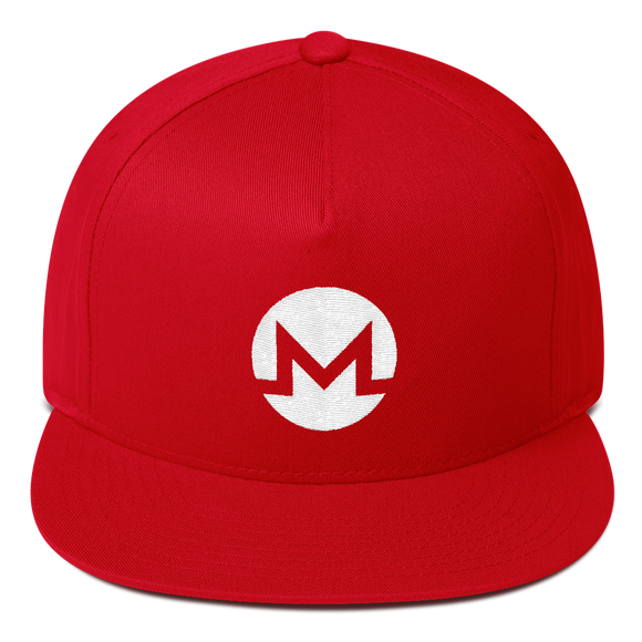 Monero / XMR W Snapback Hat-Red- Crypto & Proud