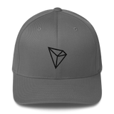 Tron / TRX B LB Fit Cap-Grey- Crypto & Proud