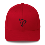 Tron / TRX B LB Fit Cap-Red- Crypto & Proud