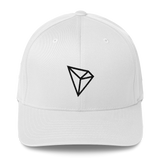 Tron / TRX B LB Fit Cap-White- Crypto & Proud