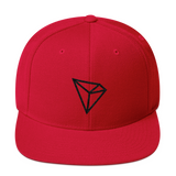 Tron / TRX B LB Snapback Hat-Red- Crypto & Proud