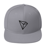 Tron / TRX B LB Snapback Hat-Silver- Crypto & Proud