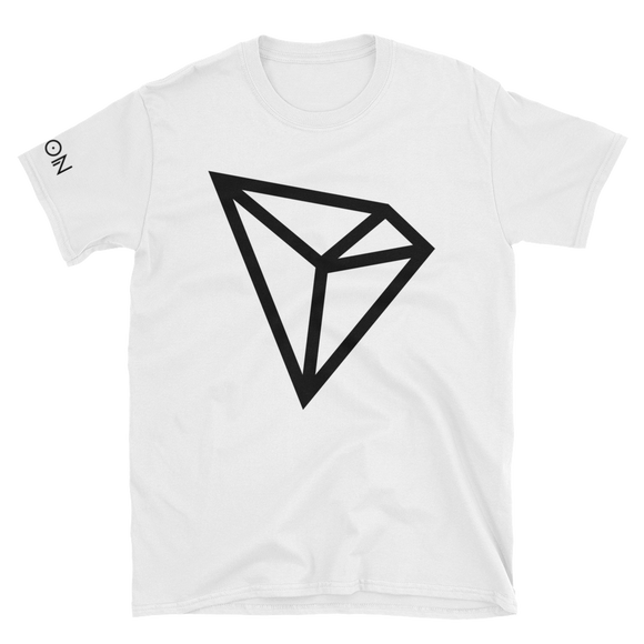 Tron / TRX B LB Softstyle T-Shirt-White- Crypto & Proud