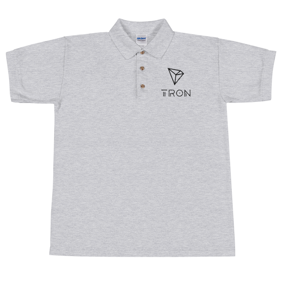 Tron / TRX BL Polo-Sport Grey- Crypto & Proud