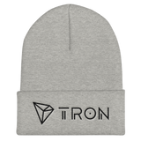 Tron / TRX BLH Beanie-Heather Grey- Crypto & Proud