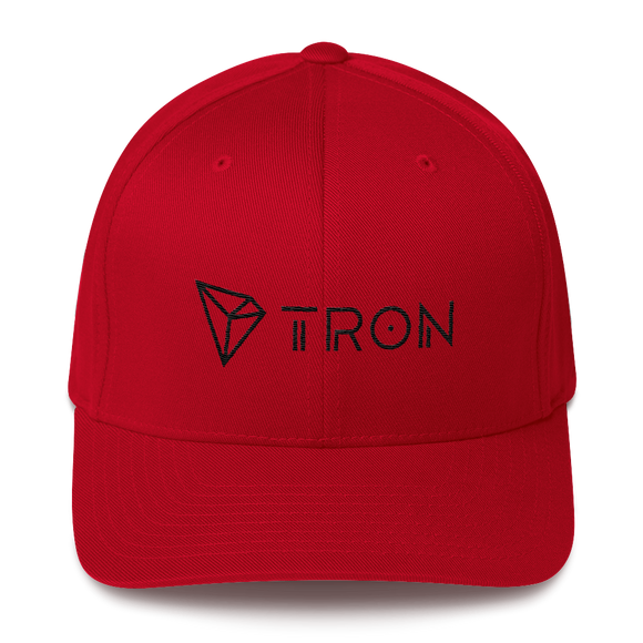 Tron / TRX BLH Fit Cap-Red- Crypto & Proud