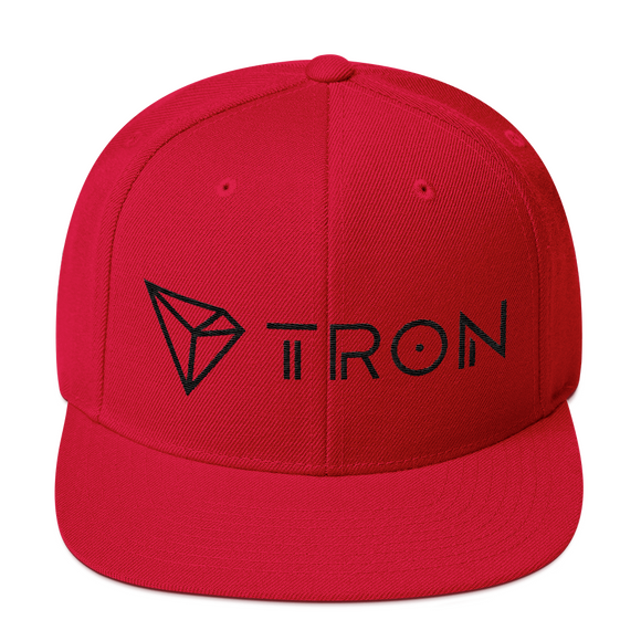Tron / TRX BLH Snapback Hat-Red- Crypto & Proud