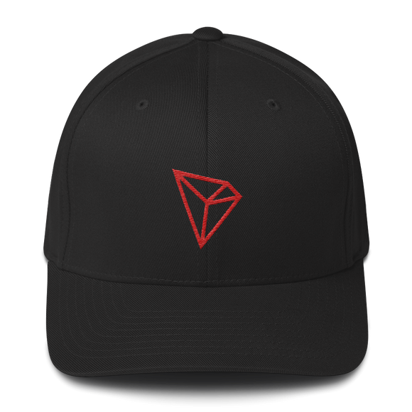 Tron / TRX C LCC Fit Cap-Black- Crypto & Proud