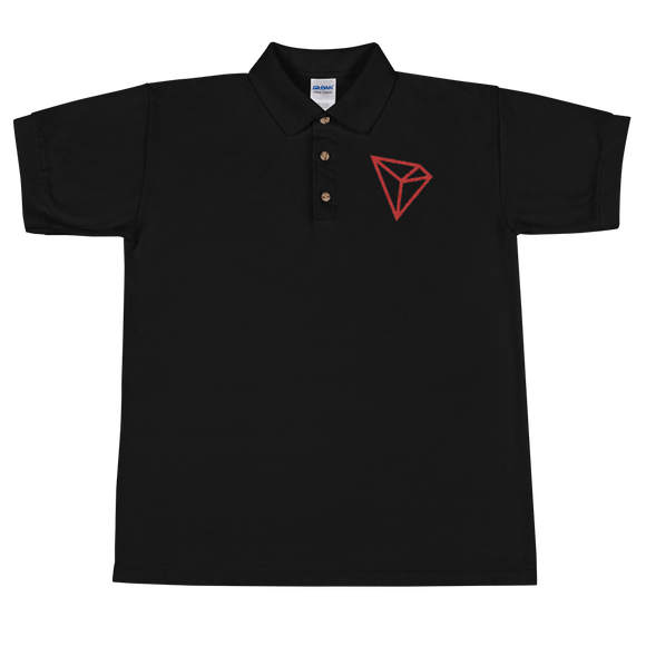 Tron / TRX C Polo-Black- Crypto & Proud