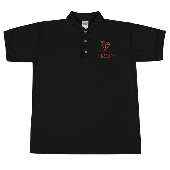 Tron / TRX CCL Polo-Black- Crypto & Proud