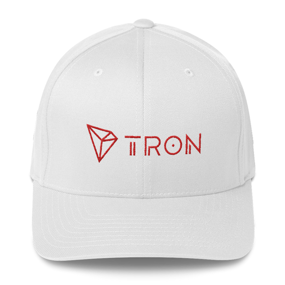 Tron / TRX CCLH Fit Cap-White- Crypto & Proud