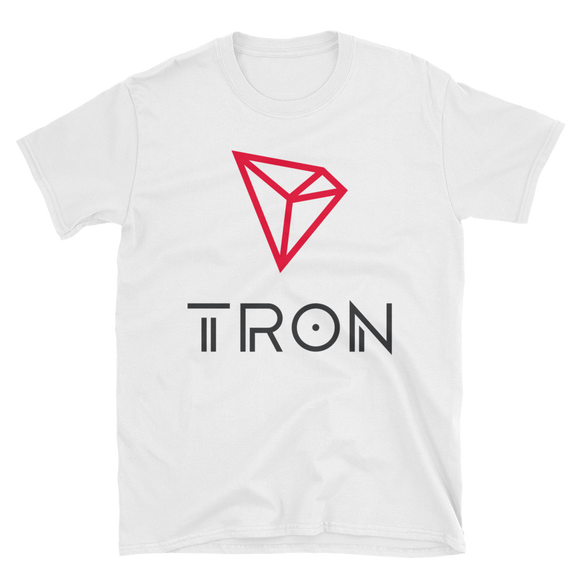 Tron / TRX CL Softstyle T-Shirt-White- Crypto & Proud