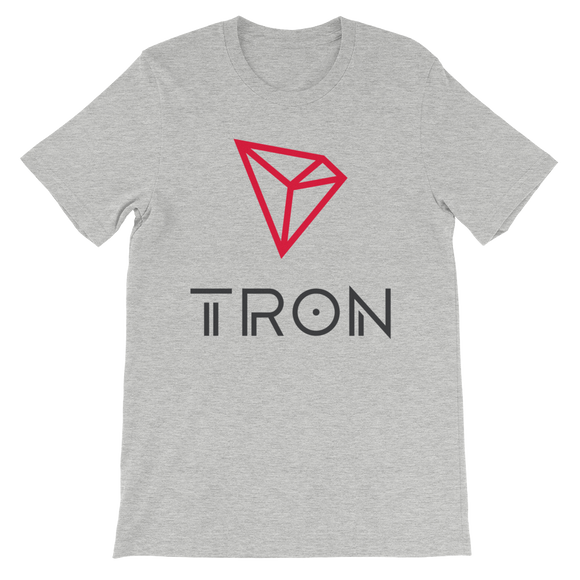 Tron / TRX CL T-Shirt Premium-Athletic Heather- Crypto & Proud