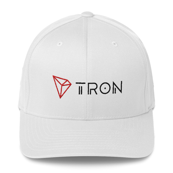 Tron / TRX CLH Fit Cap-White- Crypto & Proud