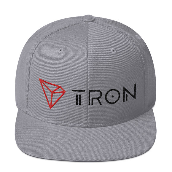 Tron / TRX CLH Snapback Hat-Silver- Crypto & Proud