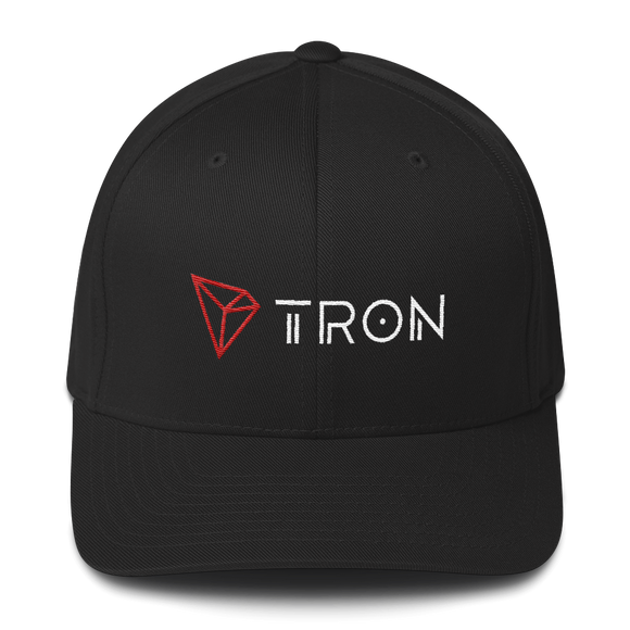 Tron / TRX CWLH Fit Cap-Black- Crypto & Proud
