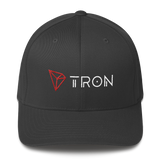 Tron / TRX CWLH Fit Cap-Dark Grey- Crypto & Proud