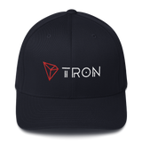 Tron / TRX CWLH Fit Cap-Dark Navy- Crypto & Proud