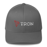 Tron / TRX CWLH Fit Cap-Grey- Crypto & Proud