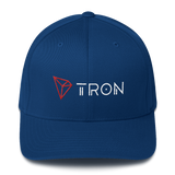 Tron / TRX CWLH Fit Cap-Royal Blue- Crypto & Proud