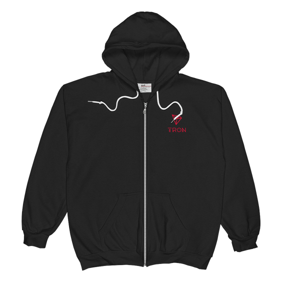 Tron/ TRX SCCL Zip Hoodie-S- Crypto & Proud