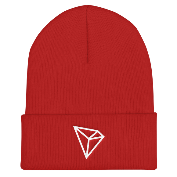 Tron / TRX W Beanie-Red- Crypto & Proud