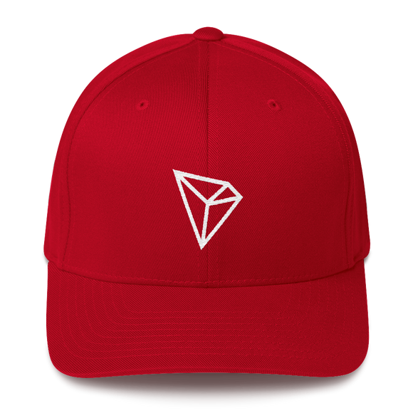 Tron / TRX W LW Fit Cap-Red- Crypto & Proud