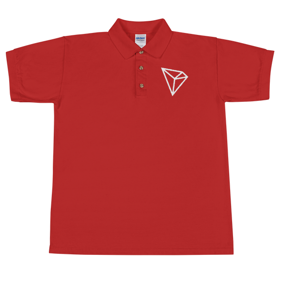 Tron / TRX W Polo-Red- Crypto & Proud