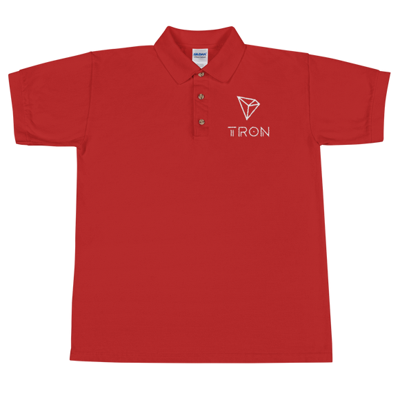 Tron / TRX WL Polo-Red- Crypto & Proud