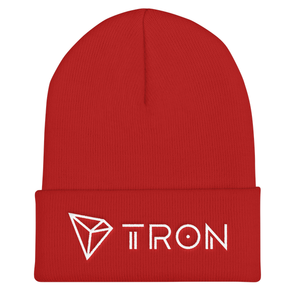 Tron / TRX WLH Beanie-Red- Crypto & Proud