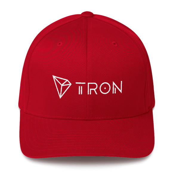 Tron / TRX WLH Fit Cap-Red- Crypto & Proud