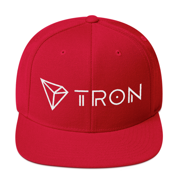 Tron / TRX WLH Snapback Hat-Red- Crypto & Proud