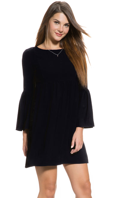 Fluted Sleeve Dress