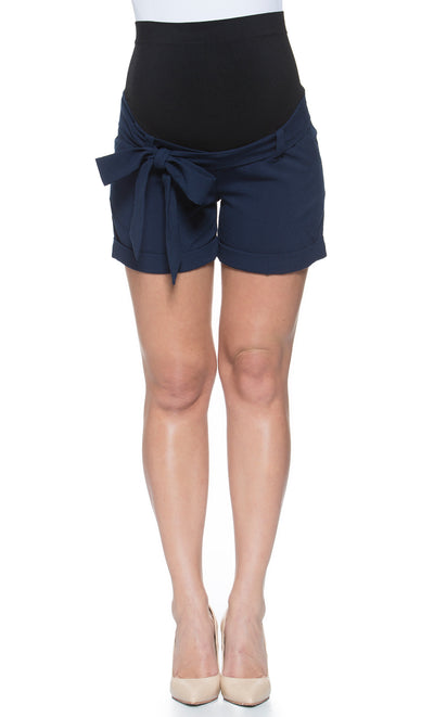 Perfect Belly Fit Tie Maternity Shorts